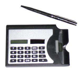 Para Hombre - Tarjetero con Calculadora y Bolígrafo