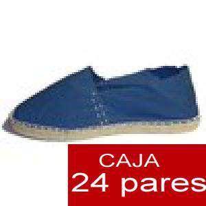 Para Hombres - Alpargatas cerradas HOMBRE color marino Tallaje 40-46 -caja 24 pares (TIENDA)