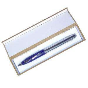 Prácticos mujer - Bolígrafo invertido Azul/Plata en caja de madera azul (Últimas Unidades)