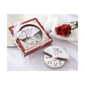 Imagen Tazas y Complementos Cortapizza Cortador para pizza LOVE en caja de regalo (Últimas Unidades)