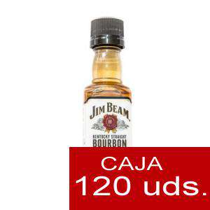 Whisky - Bourbon Jim Beam KENTUCKY STRAIGHT (Tapón Negro) CAJA DE 120
