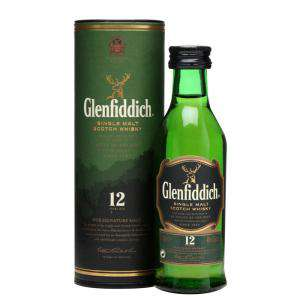 Whisky - Whisky Glenfiddich 12 años c/Tubo, 5cl
