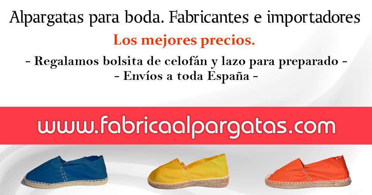 Fábrica De Alpargatas Zapatos Para Niño Niña