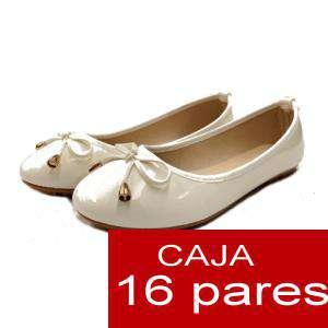 Alta Calidad - Manoletinas 808 BEIGE - Caja 16 pares (Últimas Unidades)
