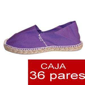 Mujer Cerradas - Alpargatas cerradas MUJER color Morado - caja 36 pares (Últimas Unidades)