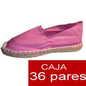Mujer Cerradas - Alpargatas cerradas MUJER color ROSA - caja 36 pares (Últimas Unidades)