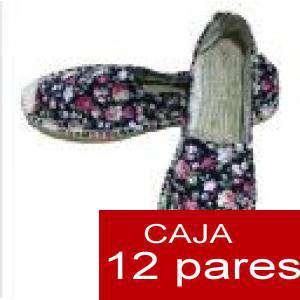 Mujer Estampadas - Alpargatas estampadas FLORES ESPECIALES 2 Caja 12 pares - OFERTA ULTIMAS CAJAS (Últimas Unidades)