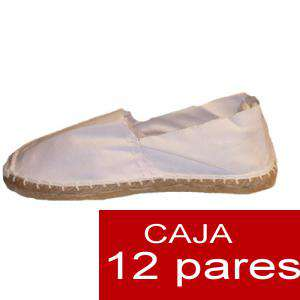 Para Hombres - Alpargatas cerradas HOMBRE color blanco Tallaje 41-46 caja 12 pares