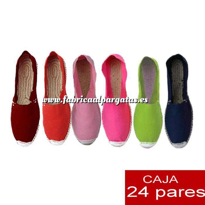 afdbe5dea20 Imagen Mujer Cerradas Alpargatas cerradas Boda Surtidas en colores y tallas  - caja de 24 pares ...