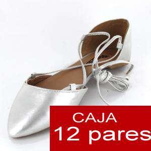 Alta Calidad - Sandalias Style PLATA - Caja de 12 pares (Ref.: Plata pu 15C0749) (Últimas Unidades)