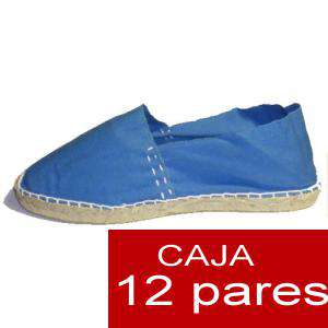 Mujer Cerradas - Alpargatas cerradas MUJER color azul francia - caja 12 pares