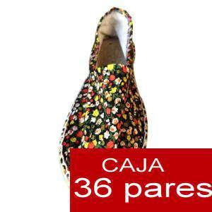 Mujer Estampadas - Alpargatas estampadas Modelo flores 03 Caja 36 pares - PEQUEÑO FLORES ROJO (Últimas Unidades)