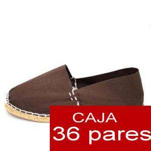 Para Hombres - Alpargatas cerradas HOMBRE color MARRON CHOCOLATE (TIENDA) caja 36 pares (Últimas Unidades)