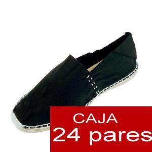 Para Hombres - Alpargatas cerradas HOMBRE color negro Tallaje 40-46 -caja 24 pares (TIENDA)