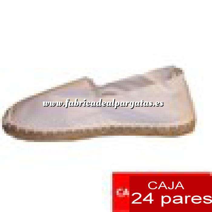 Imagen Hombre Cerradas Alpargatas cerradas HOMBRE color blanco Tallaje 40-46 -caja 24 pares (TIENDA)