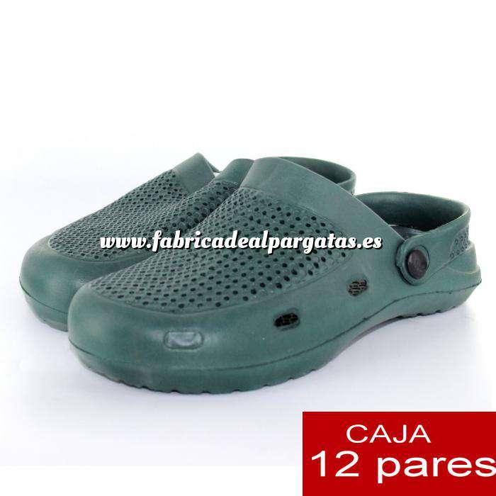 gran descuento 3125a ecd6c Zuecos tipo Crocs HOMBRE - Verde Kaki - CAJA DE 12 UDS (Últimas Unidades)