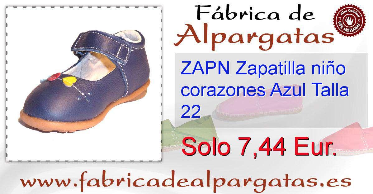 05df92cdd ZAPN Zapatilla niño corazones Azul Talla 22