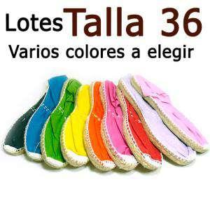 Alpargatas Eligiendo TALLA_Talla 36