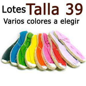 Alpargatas Eligiendo TALLA_Talla 39