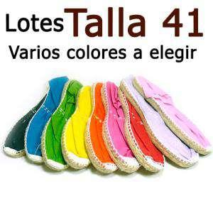 Alpargatas Eligiendo TALLA_Talla 41