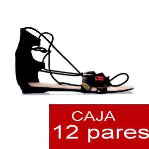 Alta Calidad - Sandalias romanas NEGRO - Caja de 12 pares (Últimas Unidades)