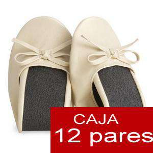 Enrollables/Plegables - Bailarinas plegables / enrollables BEIGE - Lote de 12 pares (OFERTA VERANO)