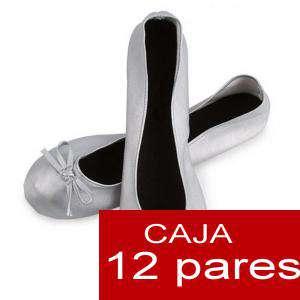 Enrollables/Plegables - Bailarinas plegables / enrollables PLATA - Lote de 12 pares (OFERTA VERANO)