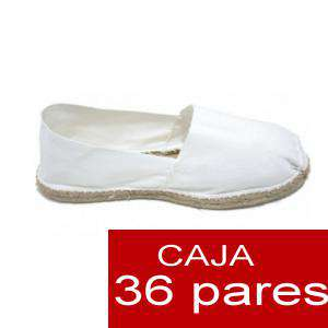 Fabrica Esparteñas Alpargatas Cerradas Mujer Color Blanco Caja 36 Pares