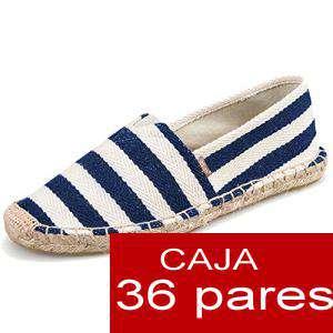 Mujer Estampadas - Alpargatas estampada RAYAS MARINERAS Caja 36 pares - OFERTA ULTIMAS CAJAS (Últimas Unidades) (duplicado)