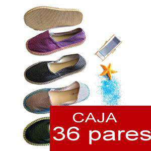 Mujer Estampadas - Alpargatas estampada RAYAS MODERNAS Caja 36 pares - OFERTA ULTIMAS CAJAS (Últimas Unidades)