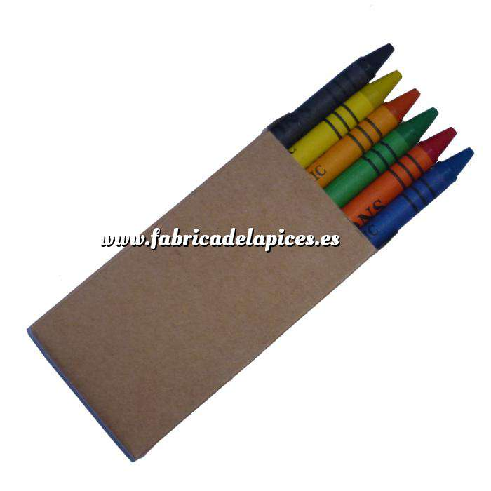 Imagen Cajas de Ceras Caja 6 ceras de colores