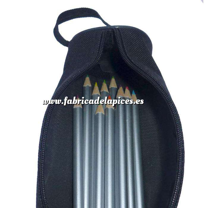 Imagen Estuches Estuche de tela de 12 lápices de colores en madera