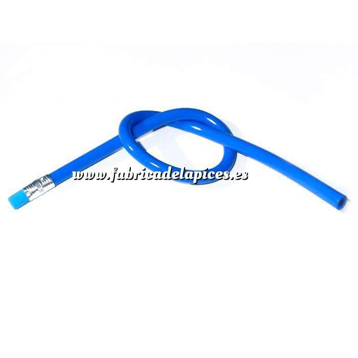Imagen Lapices Flexibles Lápiz flexible redondo de plástico azul