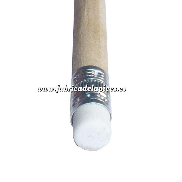 Imagen Redondo cedro con Goma Lápiz redondo de madera natural con goma