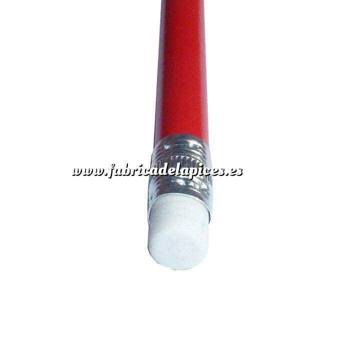 Imagen Redondo cedro con Goma Lápiz redondo de madera rojo con goma