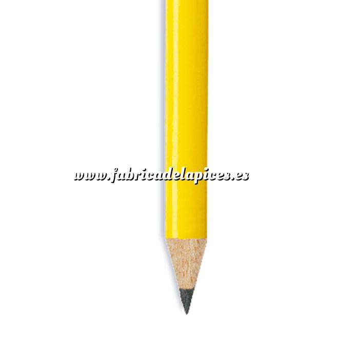 Imagen Redondo cedro jumbo y goma Lápiz redondo jumbo de madera amarillo con goma