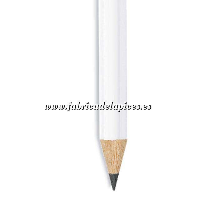 Imagen Redondo cedro jumbo y goma Lápiz redondo jumbo de madera blanco con goma