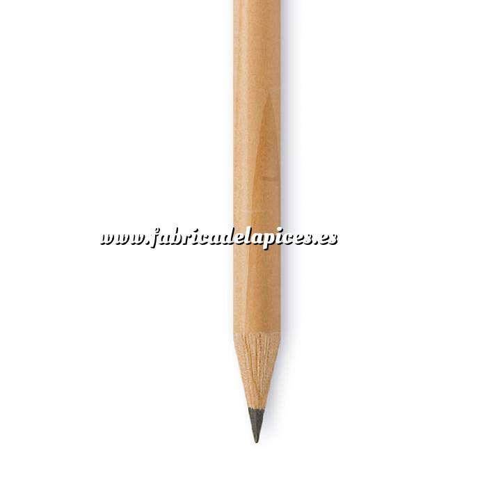 Imagen Redondo cedro jumbo y goma Lápiz redondo jumbo de madera natural con goma