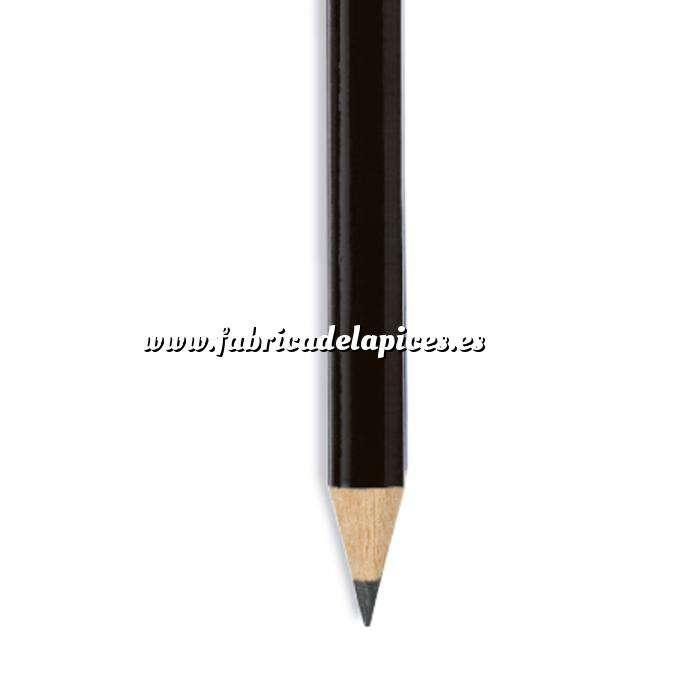 Imagen Redondo cedro jumbo y goma Lápiz redondo jumbo de madera negro con goma