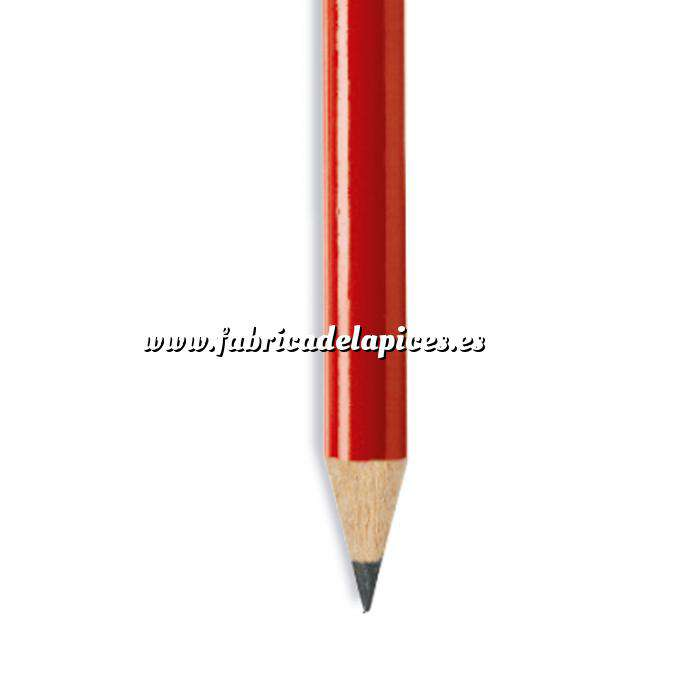 Imagen Redondo cedro jumbo y goma Lápiz redondo jumbo de madera rojo con goma