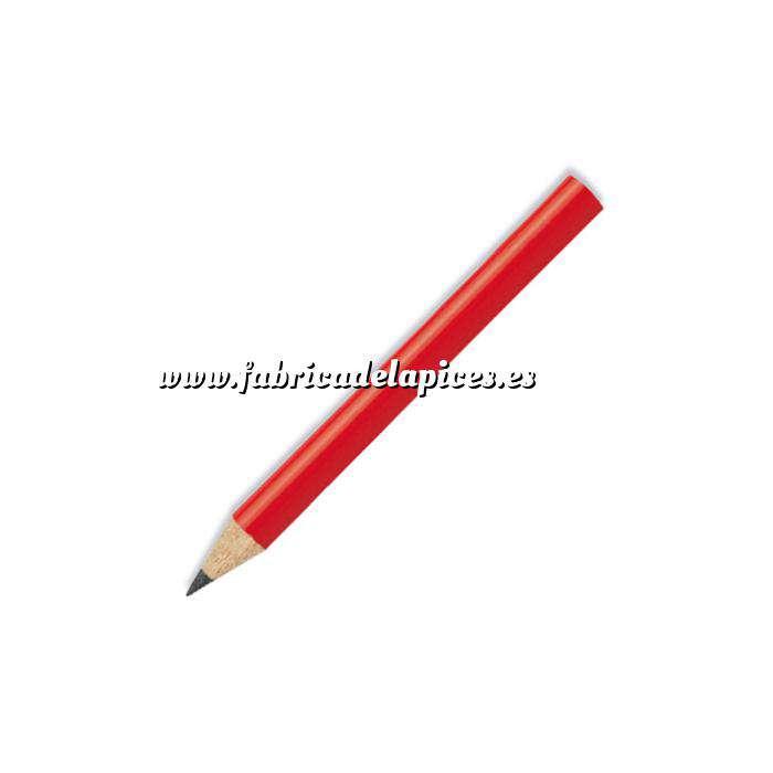 Imagen Redondo mini Lápiz pequeño redondo de madera color rojo