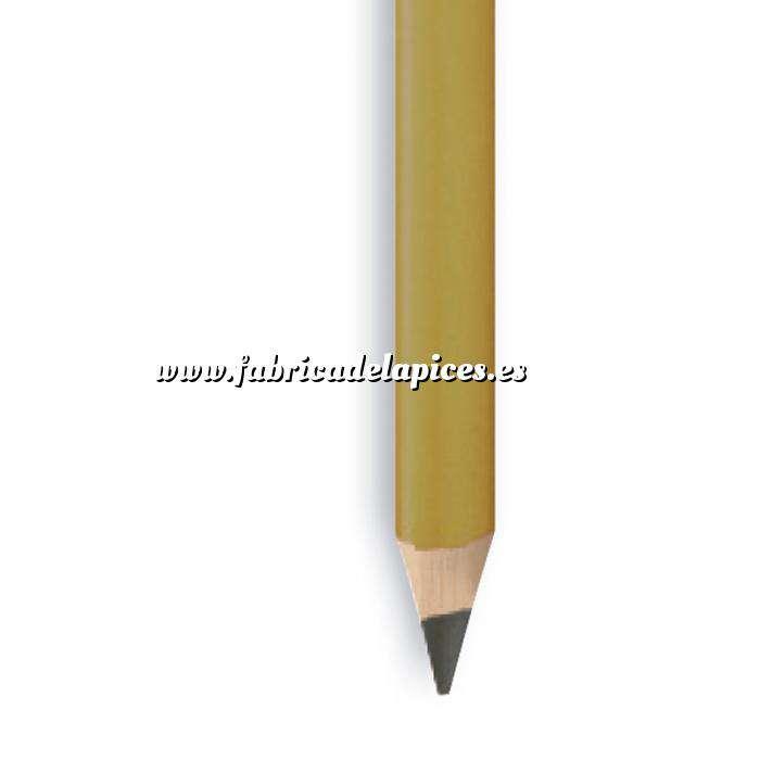 Imagen Triangular Cedro Lápiz triangular de madera cedro dorado