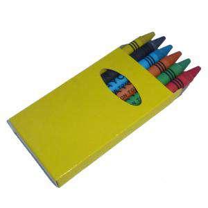 Cajas de Ceras - Caja 6 ceras de colores caja amarilla