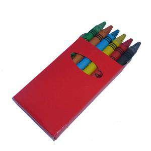 Cajas de Ceras - Caja 6 ceras de colores caja roja