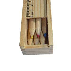Cajas madera - Caja madera 6 lápices de colores en madera