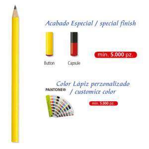 Imagen Redondo cedro Lápiz redondo de madera cedro amarillo