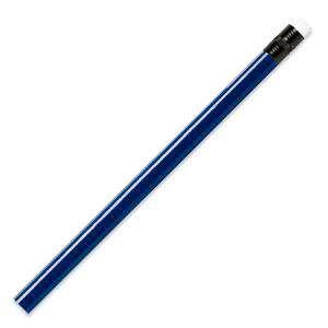 Imagen Redondo con goma Lápiz redondo de plástico azul con goma