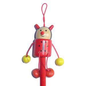 Redondo decorado - Lápiz redondo de madera con decoración mariquita