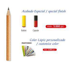 Imagen Redondo mini cedro Lápiz pequeño redondo de cedro color natural