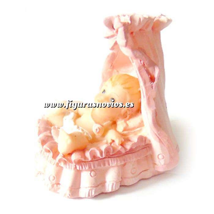 Imagen Detalles de Bautizo Mini cuna rosa ceramica - niña bautizo (Últimas Unidades)